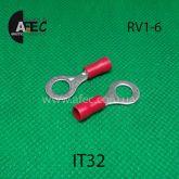 Клемма кольцевая d6мм под кабель 0,5-1,5мм2 RV1-6