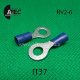 Клемма кольцевая d6мм под кабель 1.5-2,5мм2 RV2-6