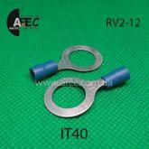 Клемма кольцевая 12мм под кабель 1.5-2.5мм2 RV2-12