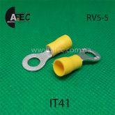 Клемма кольцевая d5мм под кабель 4-6мм2 RV5-5