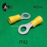 Клемма кольцевая d6мм под кабель 4-6мм2 RV5-6