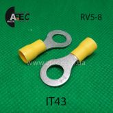 Клемма кольцевая d8мм под кабель 4-6мм2 RV5-8