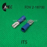 Клемма изолированная гнездовая (мама) серии 4.8 мм под кабель 1.5-2.5мм2 FDV2-187(8)