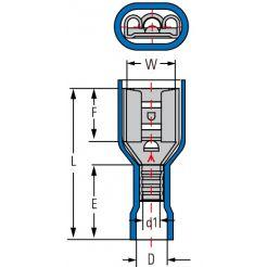 Клемма изолированная гнездовая (мама) серии 2.8 мм под кабель 1.5-2.5мм2 FDFV2-100(5)