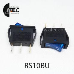 Автомобильный переключатель с подсветкой 35A 12V 3к под отверстие 10*28мм IRS-101-1C синий