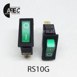 Автомобильный переключатель с подсветкой 35A 12V 3к под отверстие 10*28мм IRS-101-1C зеленый