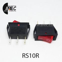 Автомобильный переключатель с подсветкой 35A 12V 3к под отверстие 10*28мм IRS-101-1C красный