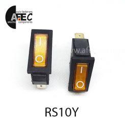 Автомобильный переключатель с подсветкой 35A 12V 3к под отверстие 10*28мм IRS-101-1C желтый