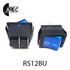 Автомобильный переключатель с подсветкой 35A 12V 6к под отверстие 22*30мм IRS-201-1C синий
