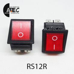 Автомобильный переключатель с подсветкой 35A 12V 6к под отверстие 22*30мм IRS-201-1C красный