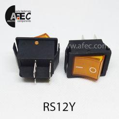 Автомобильный переключатель с подсветкой 35A 12V 6к под отверстие 22*30мм IRS-201-1C желтый