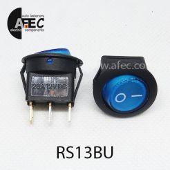 Автомобильный переключатель с подсветкой 20A 12V 3к под отверстие 21мм IRS-101-8C синий