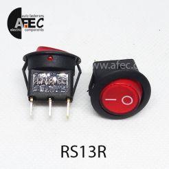 Автомобильный переключатель с подсветкой 20A 12V 3к под отверстие 21мм IRS-101-8C красный