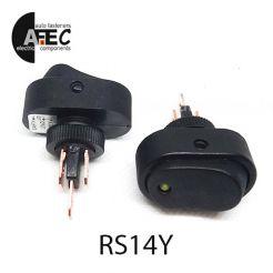 Автомобильный переключатель с подсветкой LED 20A 12V 3к под отверстие 12мм ASW-20D желтый