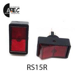 Автомобильный переключатель с подсветкой 20A 12V 3к под отверстие 12мм ASW-11D красный
