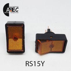 Автомобильный переключатель с подсветкой 20A 12V 3к под отверстие 12мм ASW-11D желтый