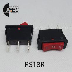 Автомобильный переключатель 35A 12V 3к под отверстие 11,5*28,9мм RS-103-16C