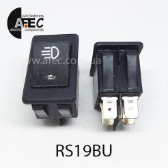 Автомобильный переключатель с подсветкой LED 35A 12V 4к под отверстие 20,2*34,2мм ASW-17D синий