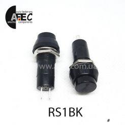 Автомобильная кнопка с фиксацией 12V 2к под отверстие 12мм PBS-11A черная