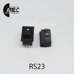 Автомобильный переключатель 12V 2к под отверстие 9*13,8мм SMRS-101-1