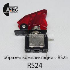 Автомобильный тумблер с подсветкой 25A 12V 3к под отверстие 12,2 мм ASW-07D красный