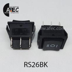 Автомобильный переключатель 35А 12V 6к под отверстие 21,7*28,5мм RS-203-1C черный