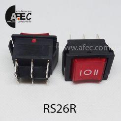 Автомобильный переключатель 35А 12V 6к под отверстие 21,7*28,5мм RS-203-1C красный