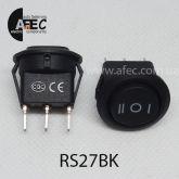 Автомобильный переключатель 35A 12V 3к под отверстие 20мм RS-123-8C черный