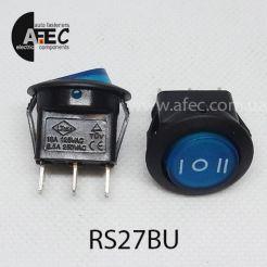 Автомобильный переключатель 35A 12V 3к под отверстие 20мм RS-123-8C синий