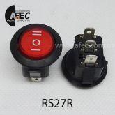 Автомобильный переключатель 35A 12V 3к под отверстие 20мм RS-123-8C красный