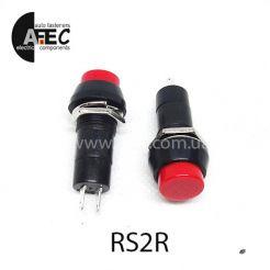 Автомобильная кнопка без фиксации 12V 2к под отверстие 12мм PBS-11B красная