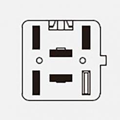 Автомобильная кнопка противотуманных фар с подсветкой 12V 5к 753.3710-01.01 ВАЗ 1118