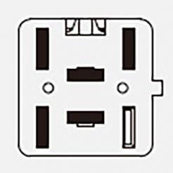 Автомобильная кнопка противотуманных фар с подсветкой 12V 5к 759.3710-01.01 ВАЗ 2170