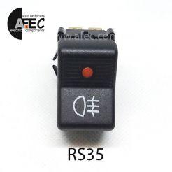Автомобильная кнопка противотуманных фар с подсветкой 12V 4к 26.3710-22.42 ВАЗ 2107