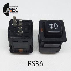 Автомобильная кнопка противотуманных фар с подсветкой 12V 4к ВАЗ 2109