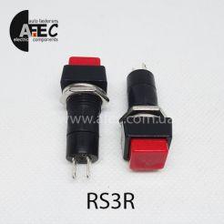 Автомобильная кнопка с фиксацией 12V 2к под отверстие 12мм PBS-11A красная