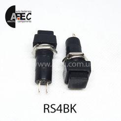 Автомобильная кнопка без фиксации 12V 2к под отверстие 12мм PBS-12B черная
