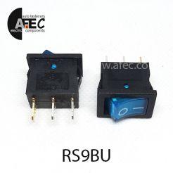 Автомобильный переключатель с подсветкой 15А 12V 3к под отверстие 13*20мм MIRS-101(A)-2 синий