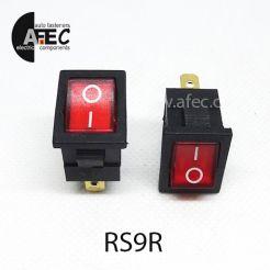 Автомобильный переключатель с подсветкой 15А 12V 3к под отверстие 13*20мм MIRS-101(A)-2 красный
