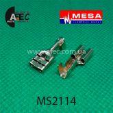 """Клемма гнездовая (мама) серии 6,3мм под кабель 1-2,5мм (0,3мм) с фиксатором """"MESA"""""""