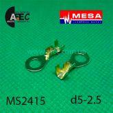 Клемма кольцевая d5,2мм (0,38мм) под кабель 1-2,5мм
