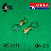Клемма кольцевая d6,2мм (0,38мм) под кабель 1-2,5мм