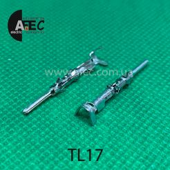 Клемма штыревая (папа) аналог TE 1703013-1 серии 1.5 mm System под кабель 0,5-1мм