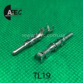 Клемма штыревая (папа) аналог TE 929968-1 серии 2.5 mm System под кабель 0,5-1мм