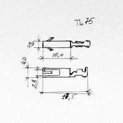 Клемма гнездовая (мама) аналог TE серии 2.8мм